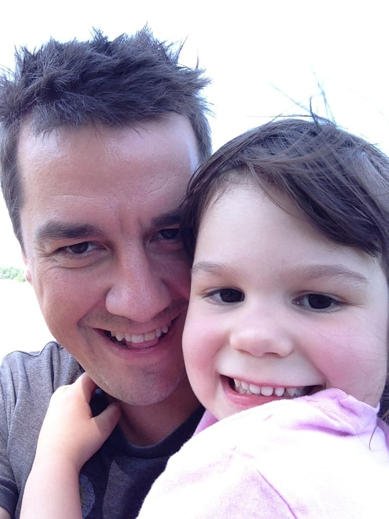 Dylan Jones and daughter