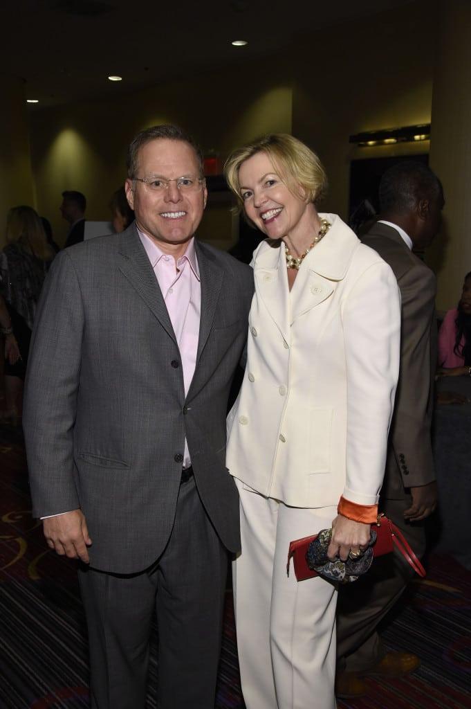 Discovery Comm's David Zaslav and NBCU consultant Bridget Baker.