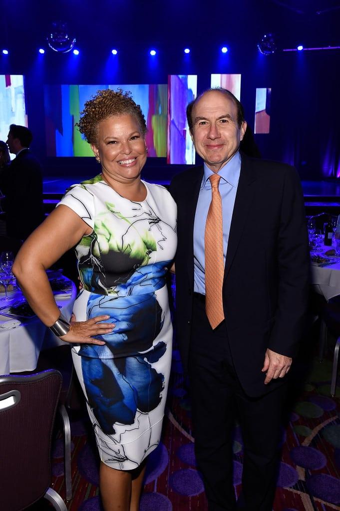 BET Networks' Debra Lee and Viacom's Philippe Dauman.