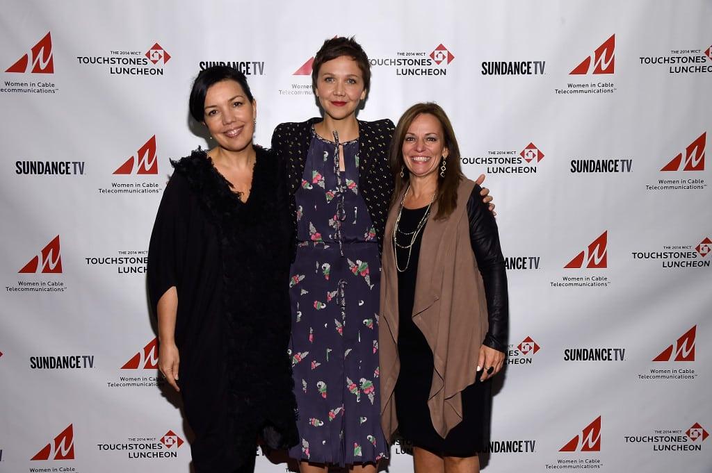 SundanceTV's Sarah Barnett, speaker/actress Maggie Gyllenhaal & WICT's Maria Brennan.