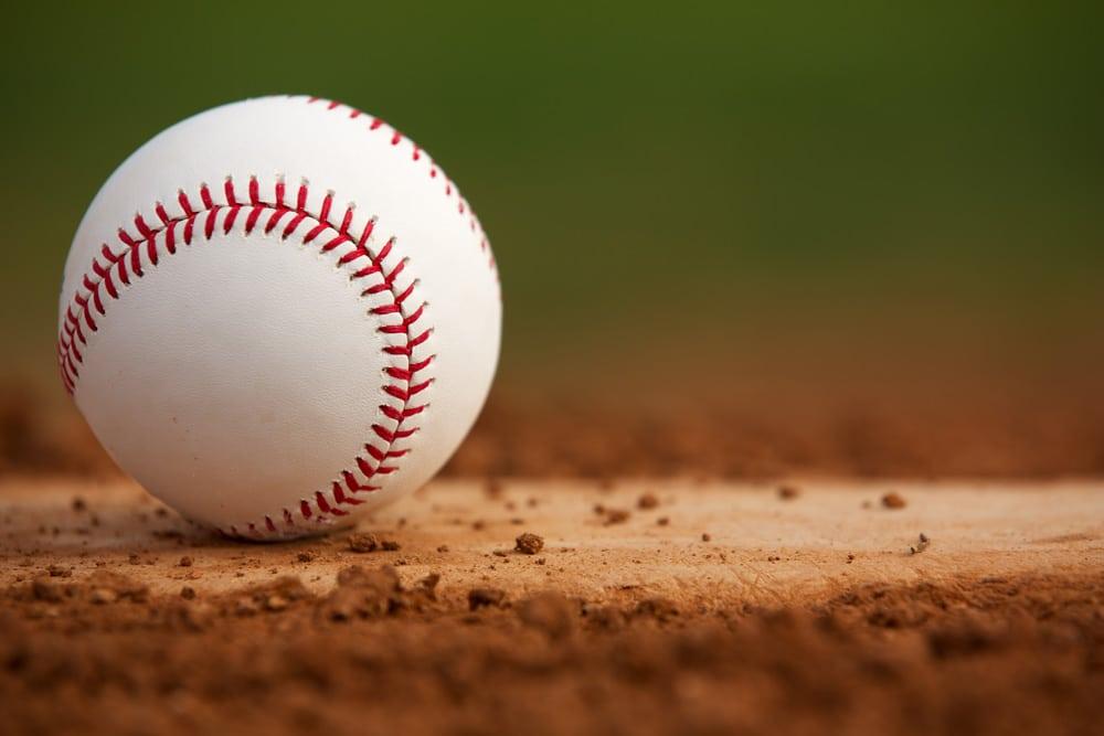 baseball on a baseball diamond