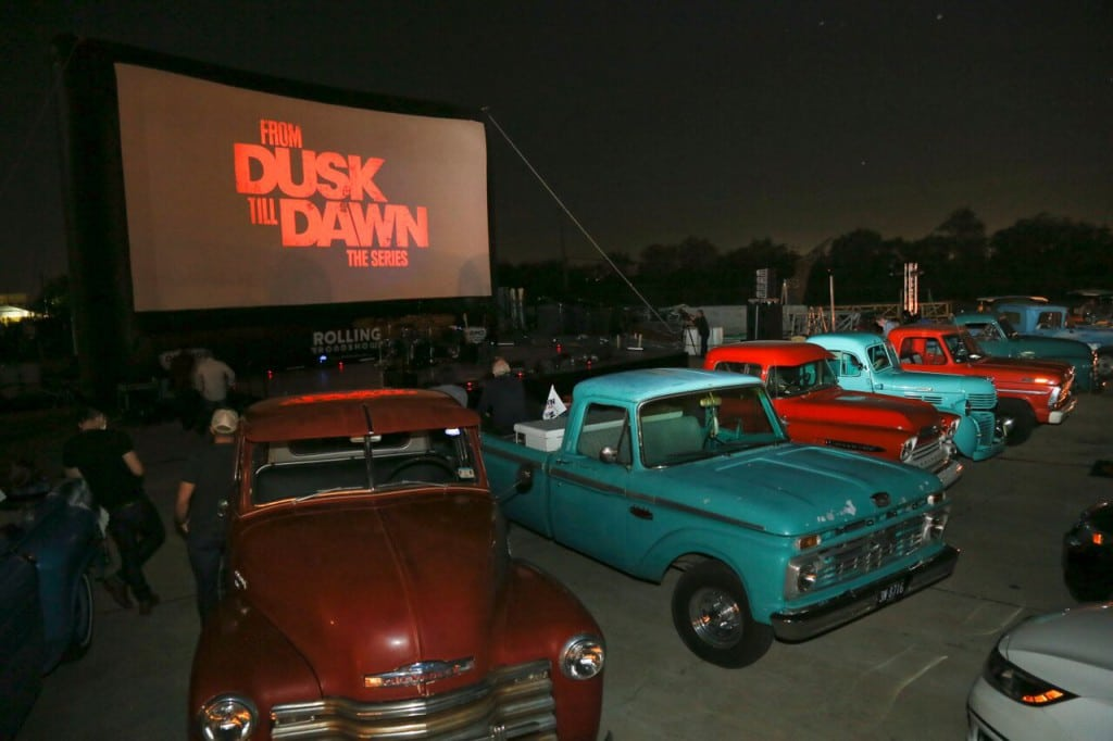 """The drive-in screening of the season two finale of """"From Dusk Till Dawn: The Series"""" on October 27 at his production house Troublemaker Studios. Photo Credit: Jack Plunkett on behalf of El Rey Network"""