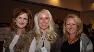 (L to R) Gail MacKinnon, Time Warner Cable; Melinda Witmer, Time Warner Cable; Jennifer Dangar, cable executive.