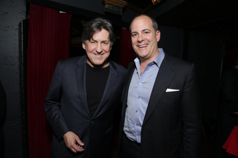 "Cameron Crowe and David Nevins, President and CEO, Showtime Networks at Showtime's ""Roadies"" Premiere at The Theatre at ACE Hotel on Monday, June 6, 2016, in Los Angeles. (Photo by Eric Charbonneau/Invision for Showtime/AP Images)"