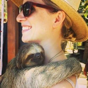 lauren-and-sloth-roatan copy