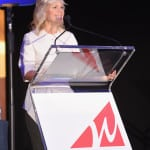 Journalist Gretchen Carlson speaks onstage during the WICT Leadership Conference at Marriott Marquis Times Square on September 26, 2017 in New York City. (Photo Credit: Larry Busacca, Getty Images)