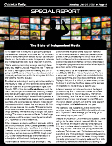 Independent Media Special Report