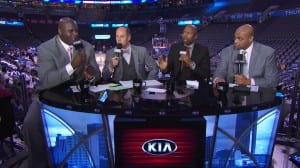Ernie Johnson, Charles Barkley, Shaquille O'Neal and Kenny Smith - Inside the NBA
