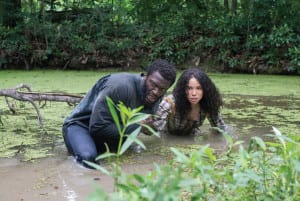 Underground: Aldis Hodge as Noah and Jurnee Smollett-Bell as Rosalee in WGN America's 'Underground.' Both participated in a screening and discussion this month at the DuSable Museum of African American History.