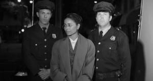 Rosa Parks and police officers
