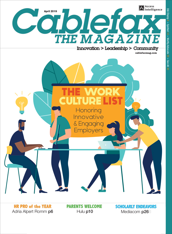 Cablefax Magazine:The Work Culture List 2019