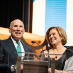 C-SPAN co-CEOs Rob Kennedy and Susan Swain at 2019 Cable Hall of Fame. - Photo courtesy of The Cable Center