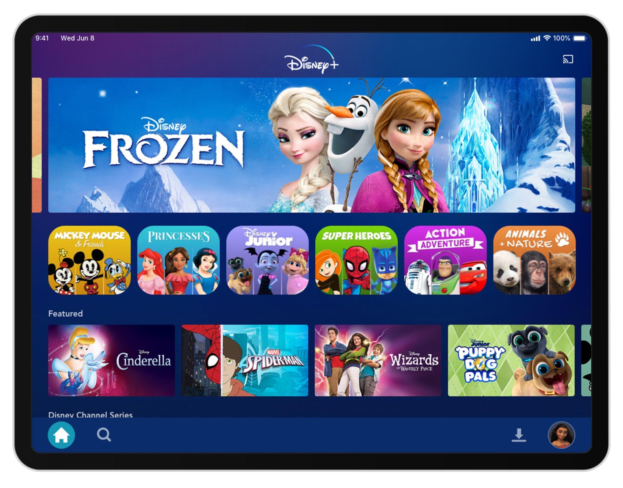 Disney+ Kids profile landing screen