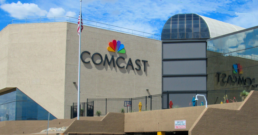 front of Comcast building