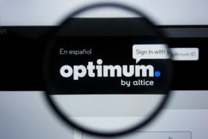 Optimum Altice USA website logo