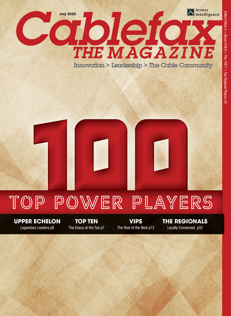 Cablefax 100 2020 Magazine Cover