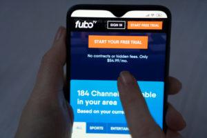 fubotv log-in screen
