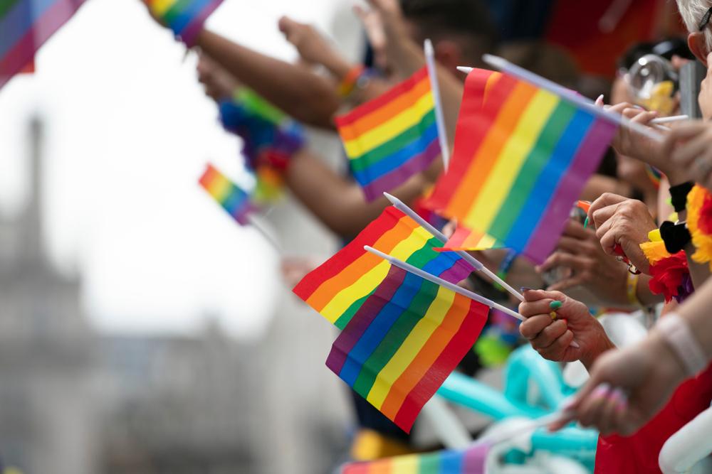 People Waving LGBTQ Flags