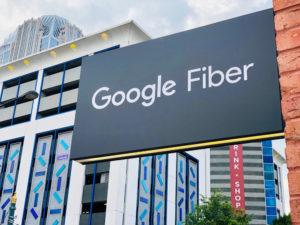 Google Fiber sign