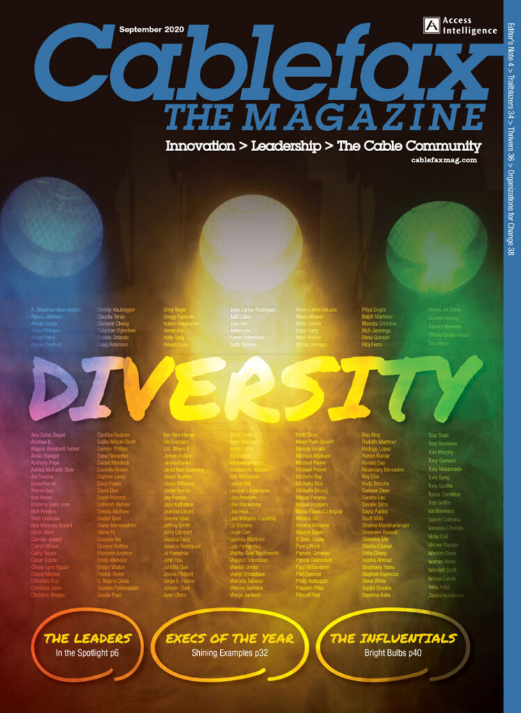 Cablefax Diversity Issue, Sept. 2020
