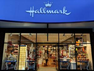 front of Hallmark store