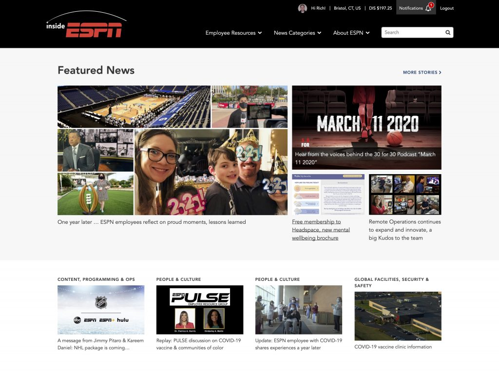 A year like no other: Internal Communications at ESPN during the pandemic