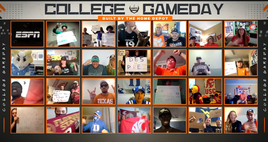 College GameDay Welcomes Virtual Fans Amid Pandemic - ESPN