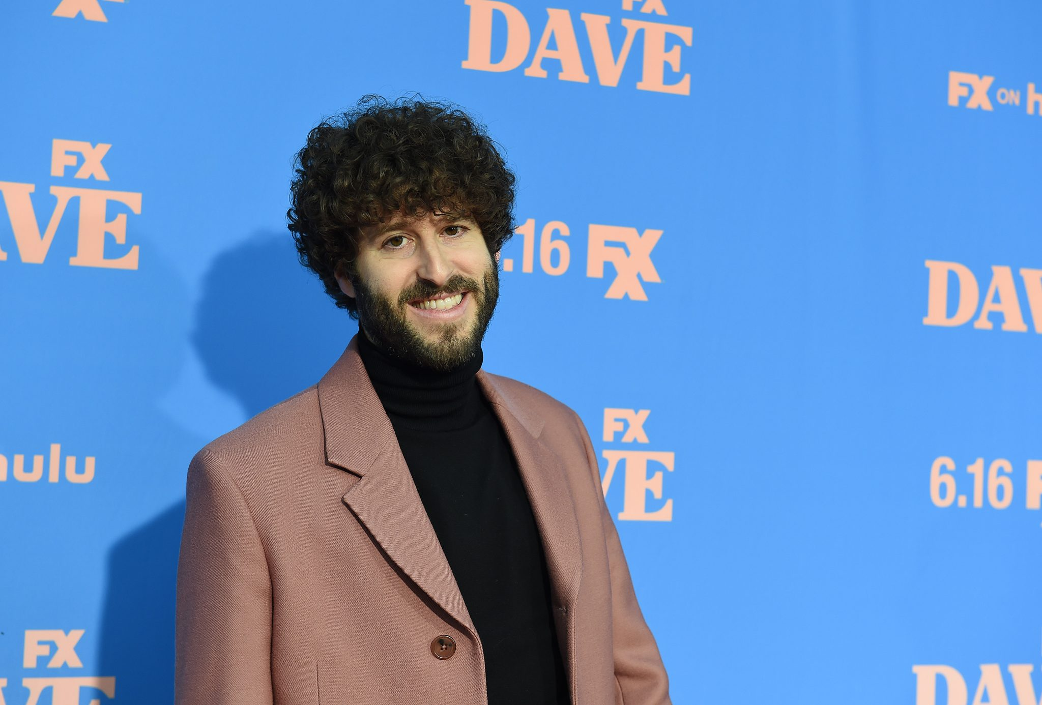 """Dave Burd attends the Season Two Red Carpet event for FXX's """"DAVE"""" at the Greek Theater on June 10, 2021 in Los Angeles, California. (Photo by Frank Micelotta/FXX/PictureGroup)"""