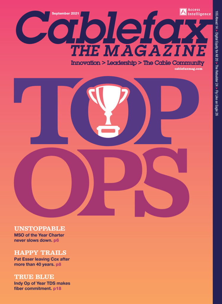 Cablefax Top Ops Magazine Cover 2021