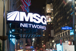 MSG Networks sign in New York City